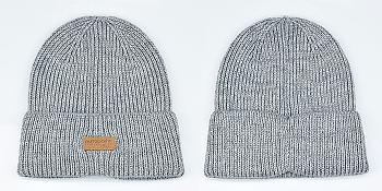 Winter Wool Beanie Knit Hat for Men amp; Women Ribbed Cuff Beanie Cap