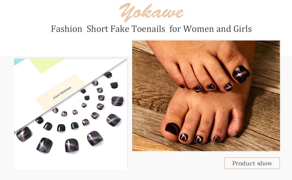 Fake Toenail for Women and Girls