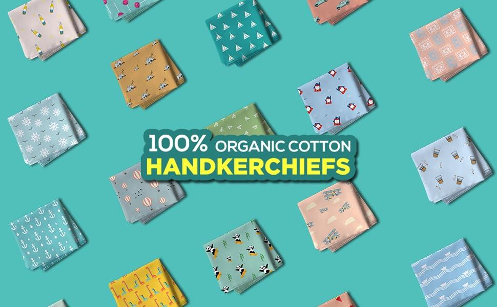 100% Organic Cotton Handkerchiefs
