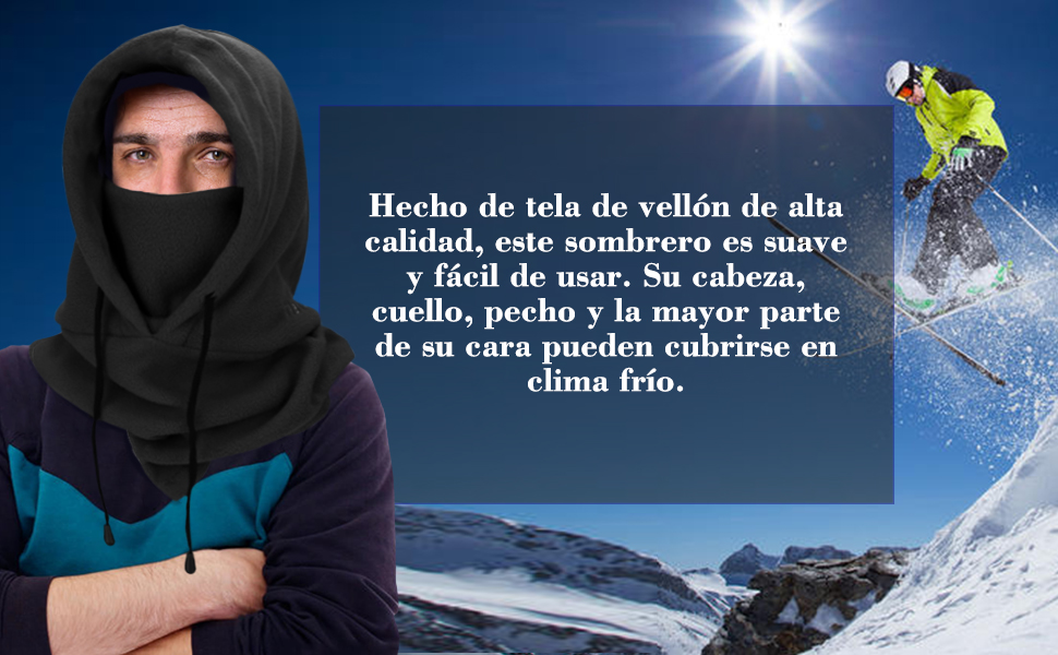 Pasamonta/ñas Esqui,Balaclava M/áscara Polar Multifuncional para Clima Fr/ío Esqu/í Motocicleta al Aire Libre Monta/ña Camping Senderismo Invierno joyoldelf Pasamonta/ñas Termico