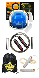 Jaw Exerciser with Drawstring Bag, Tangle Free Skipping Rope and Weight Jump Rope