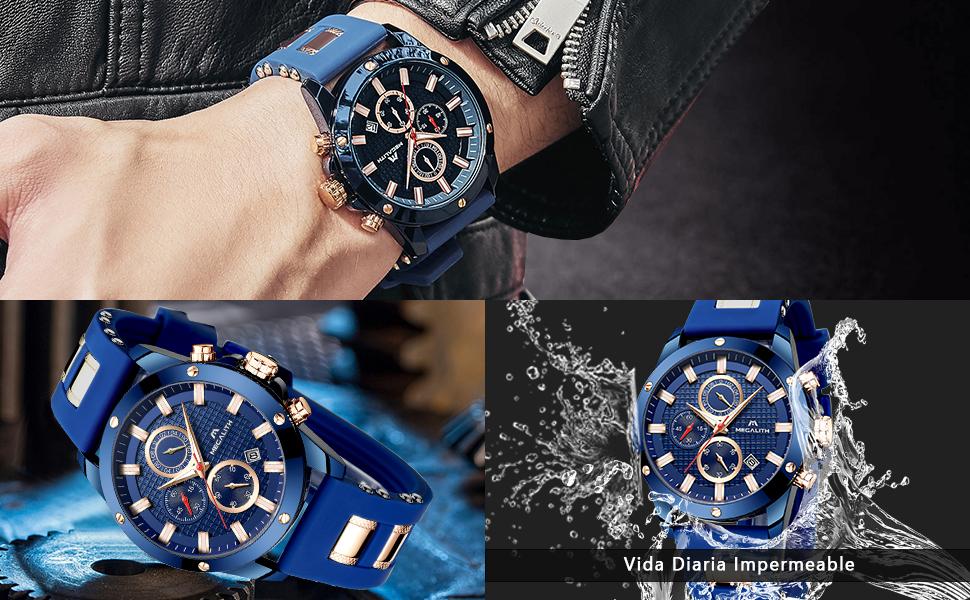 reloj hombre azul