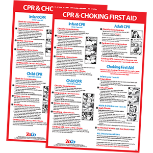 CPR Choking Posters 2 Pack