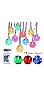 Colorful Globe String Lights