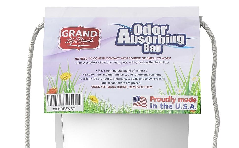 odor remover bag pet vomit flood smoke dead rat mouse closet bathroom garbage smell urine feces shoe