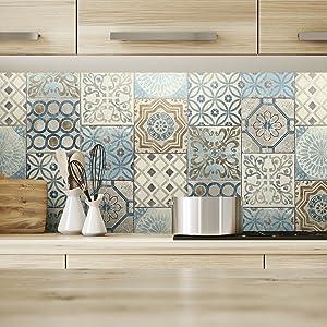 peel and stick, peel and stick backsplash, backsplash ideas, kitchen wallpaper, tile wallpaper