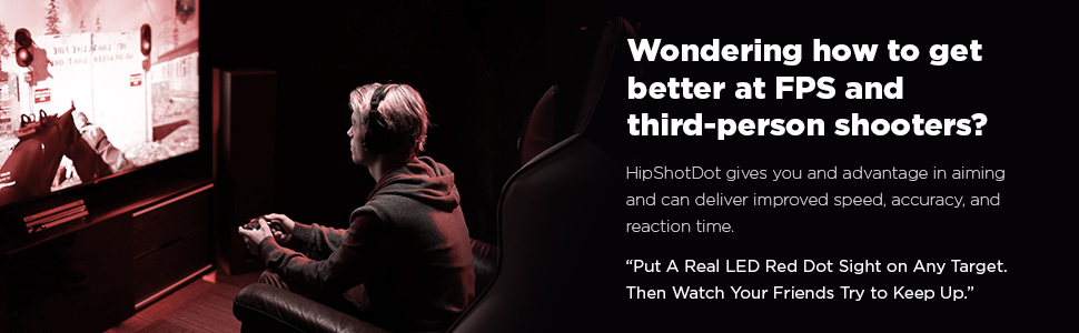Wondering how to get better at FPS and third-person shooters? HipShotDot gives you and advantage