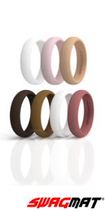 Silicone Wedding Ring Male Female Rubber Bands Fashion hypoallergenic ultra thin dome finish Durable