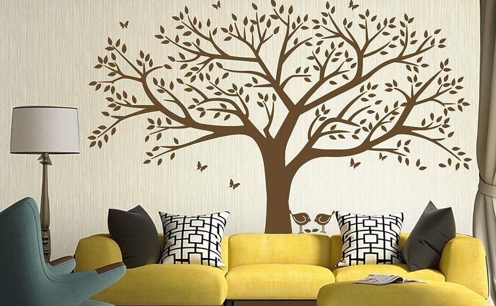 Green Plants trees Branch Living Room Wall Decal Sticker Home Decor Vinyl Art