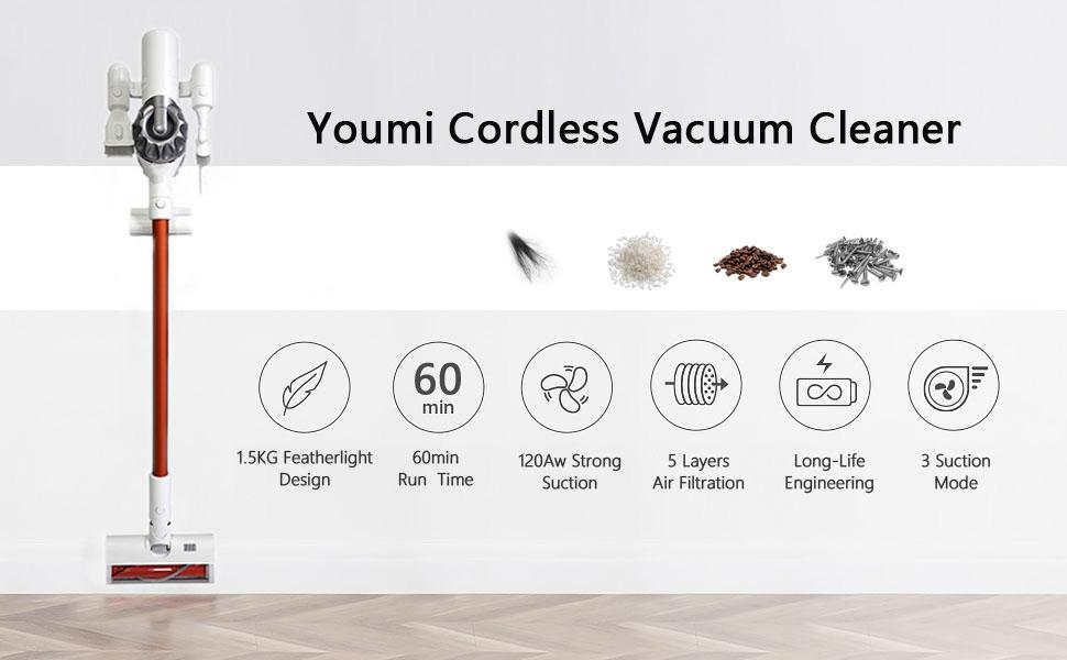 Youmi Cordless Handheld Vacuum Cleaner