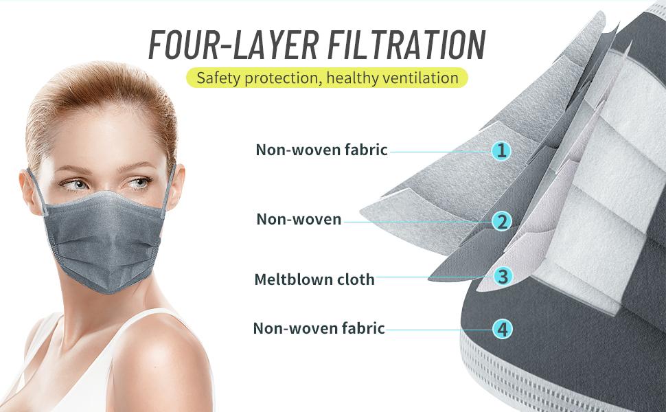 face masks grey disposable