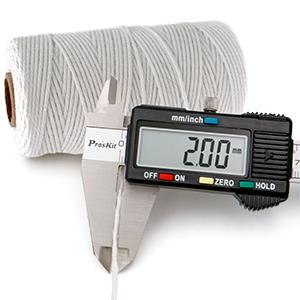 2mm white coton string