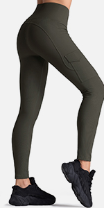 Ribbed Cargo Leggings