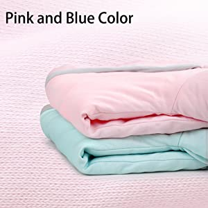 Pink and Blue color