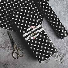 black polka dot papers