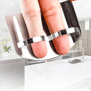 Stainless Steel Finger Guard, Kitchen Finger Protector, Knife Guard For Dicing and Slicing