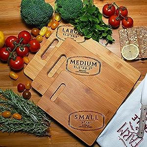 Custom Walnut Cutting Board Personalized  Kitchen Gifts Women Grandma Housewarming Wedding Couples
