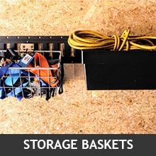 Storage Baskets hanging on E-Tracks