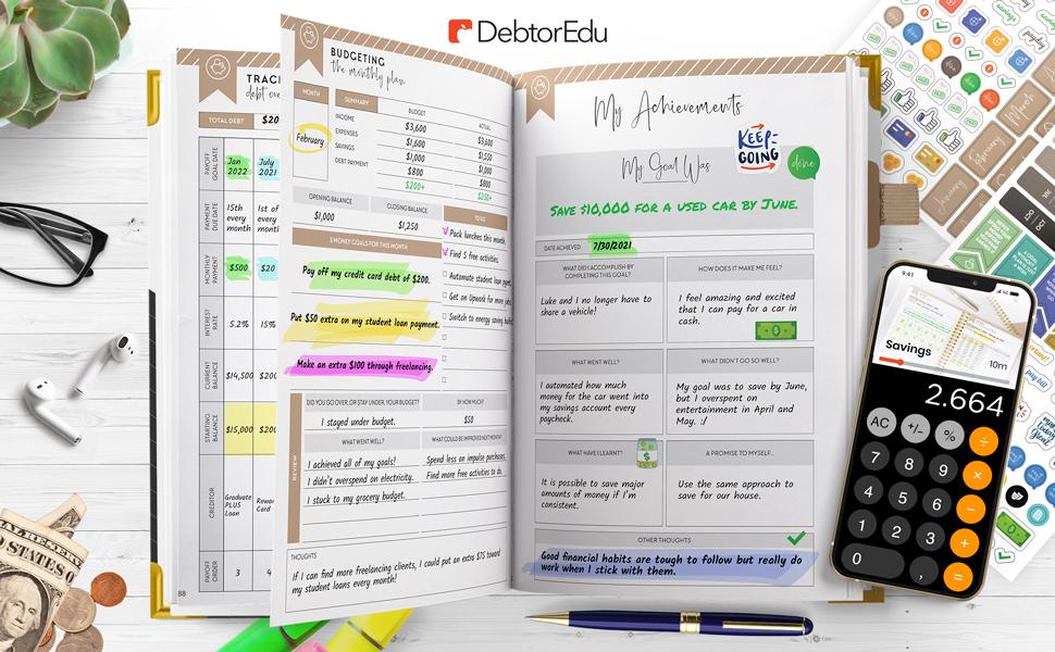 budget planner on desk