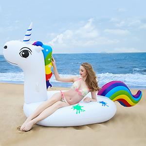 Grefay Unicornio Inflable Gigante, Piscina Flotador Balsa Cama ...