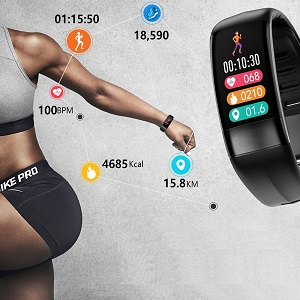 fitness tracker with steps counter, walking distance, calories burned, waterproof activity tracker
