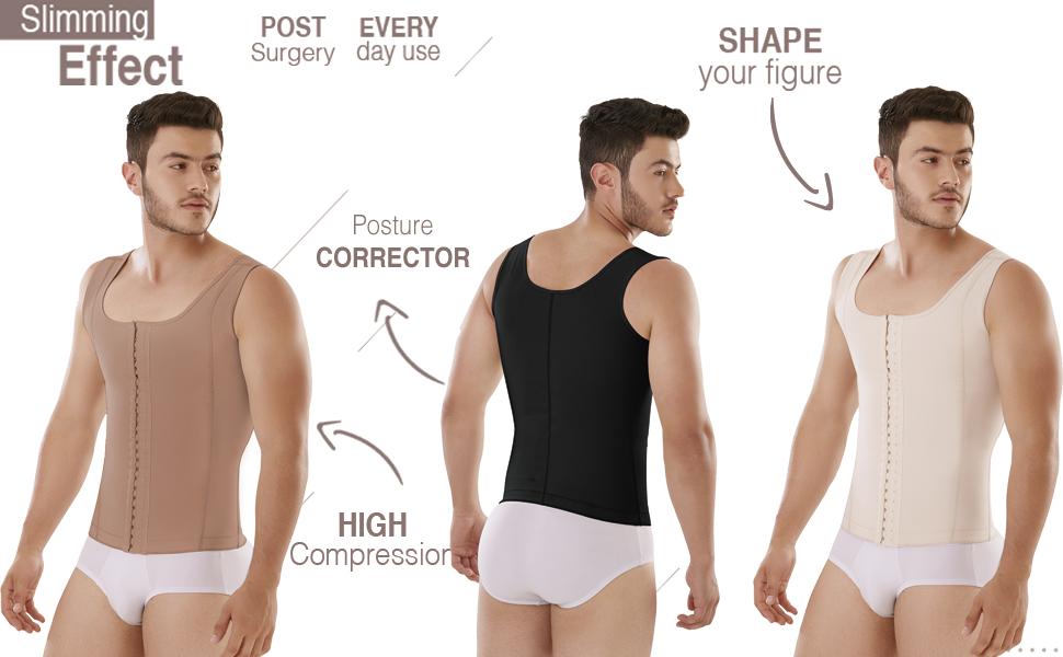 Faja de Hombre Vest Post Liposuction Surgery Men Posture and Lumbar Corrector