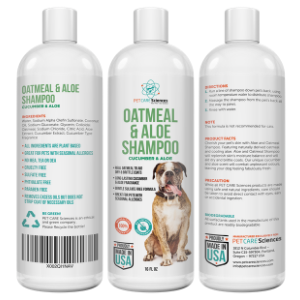 Oatmeal and Aloe Dog Shampoo