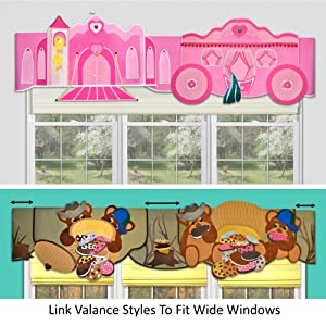 DIY children's room decorations window valances for baby nursery or kids room toddler styles no-sew