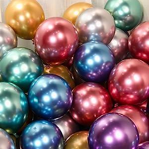 chrome balloons,rainbow balloons,shiny balloons