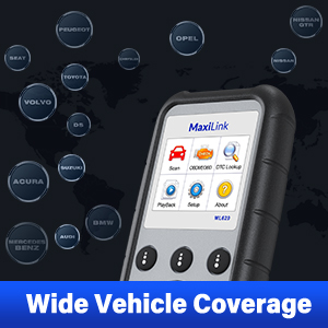 Autel ML629 OBDII Scanner Vehicle Coverage