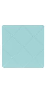 Turquoise Blue Fabric Memory/Memo Photo Bulletin Board by Sweet Jojo Designs