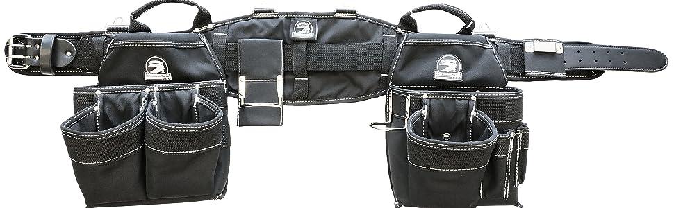 Various Sizes S - 3XL Gatorback B140 Professional Carpenters Tool Belt Combo