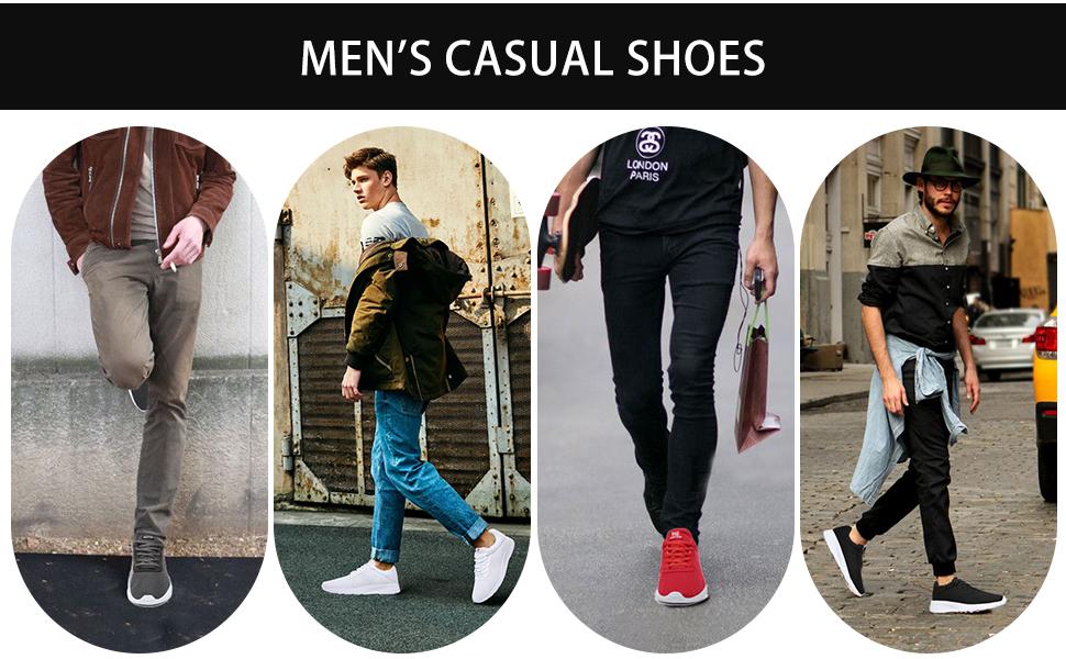Men's Running Shoes Sport Athletic Mesh Sneakers
