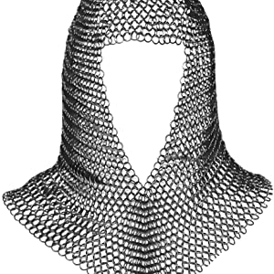 medieval maile maille coif camail chainmail hood costume LARP SCA Reenactment knight warrior cosplay
