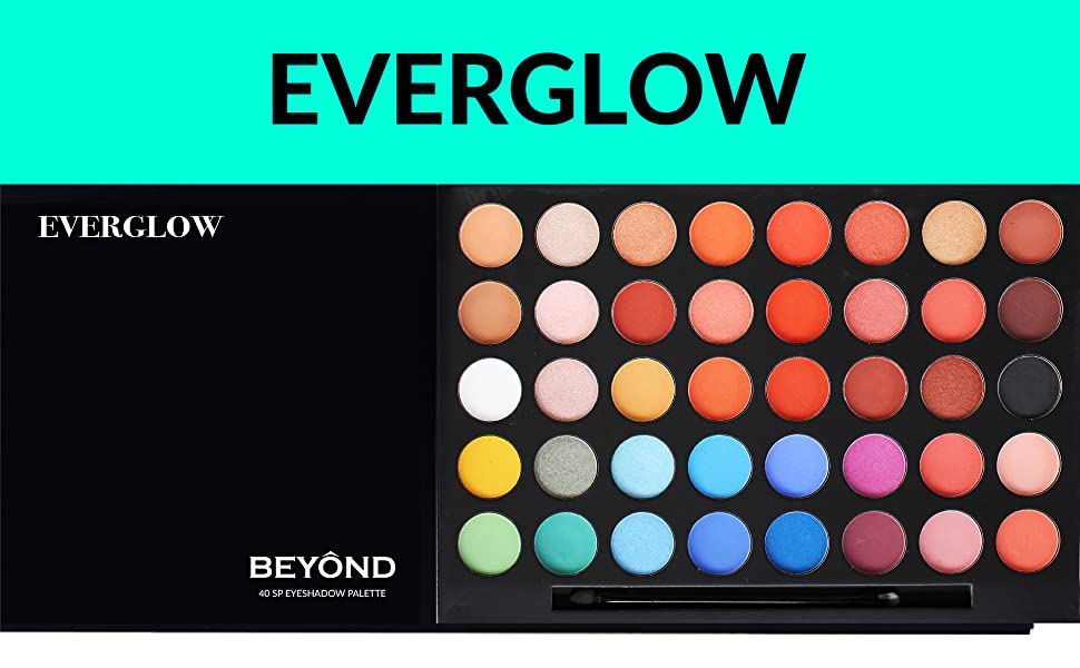 BEYOND EVERGLOW 40 COLOR SHIMMER & MATTE EYESHADOW PALETTE