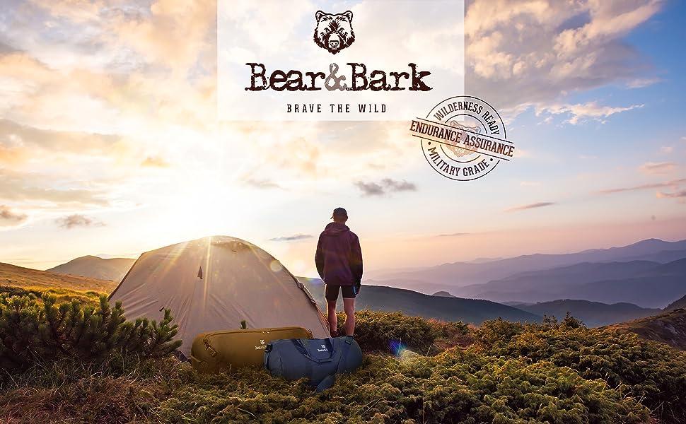 bear & bark duffel duffle small medium large green blue black grey gray