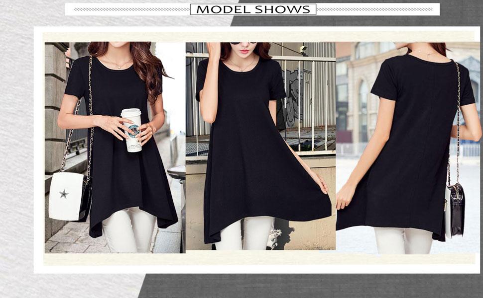 black tshirt dress for women