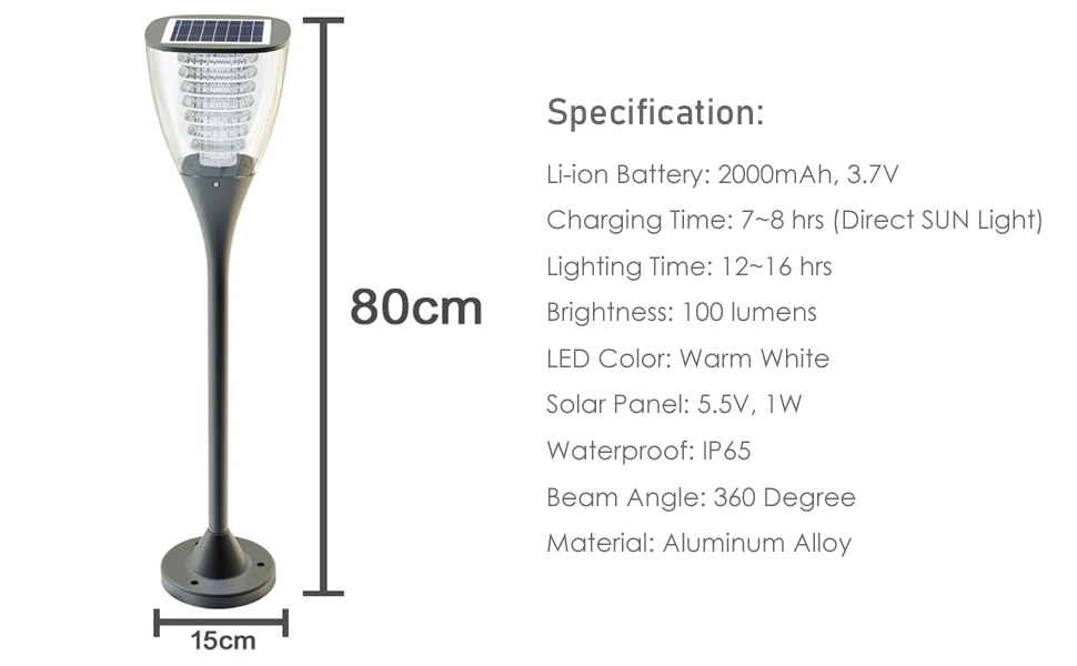 ifitech garden light, pillar light, pathway light, solar light, led light, smart light,outdoor light