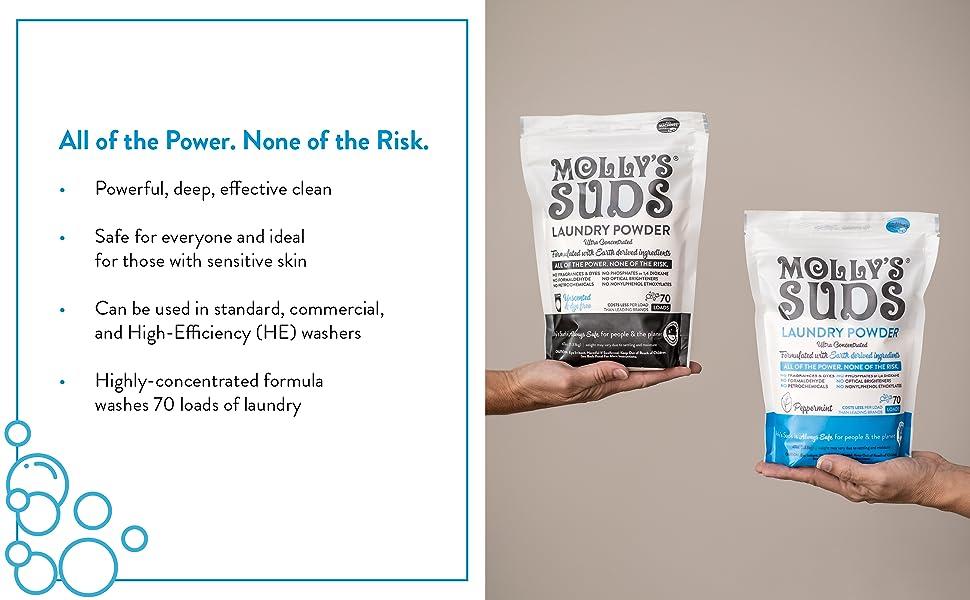 powerful, cleaning, laundry, detergent, sensitive skin, high-efficiency, washer, detergent, powder