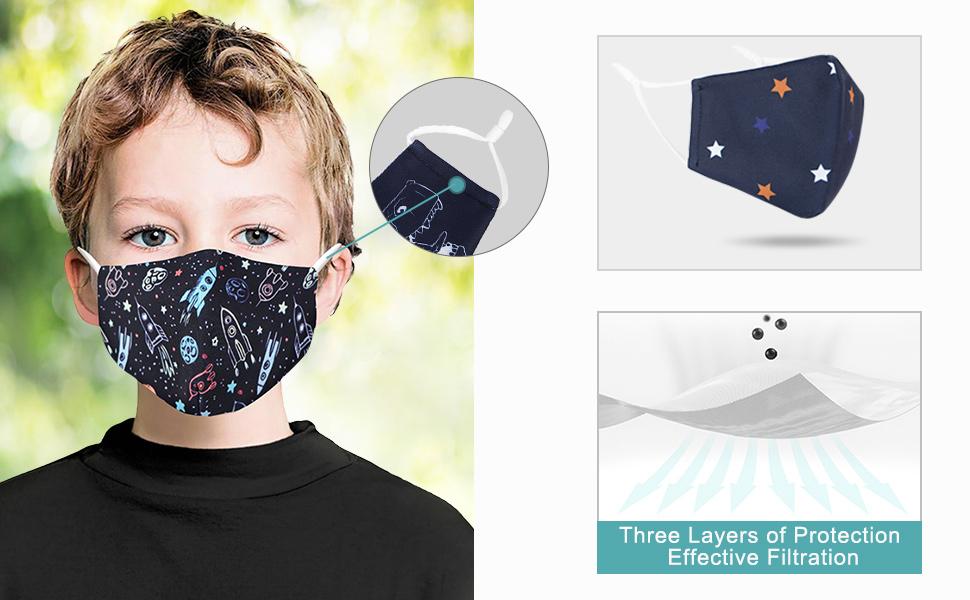 Children Cute Print Face Mask