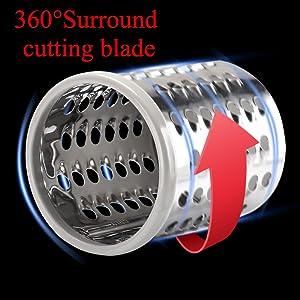 the cutting blade