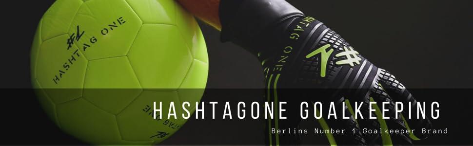 #1 Hashtagone Torwarthandschuhe Fu/ßballhandschuhe /√ Herren /& Erwachsene Kinder und 4mm Profi Grip Diverse Gr/ö/ße und Farben