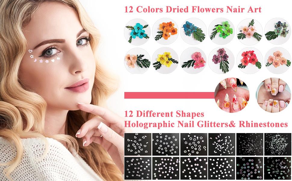 Arte de uñas de flores secas