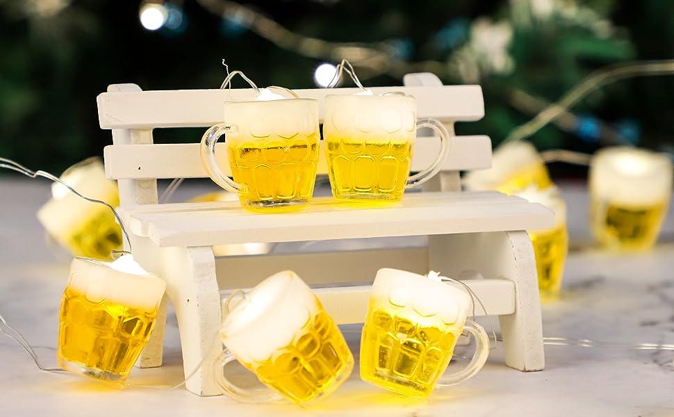 Beer Mug St. Patrick's Day Christmas String Lights