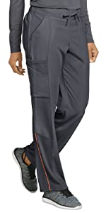 Model wearing Jockey 2505 women's Vintage Track Scrub Pant