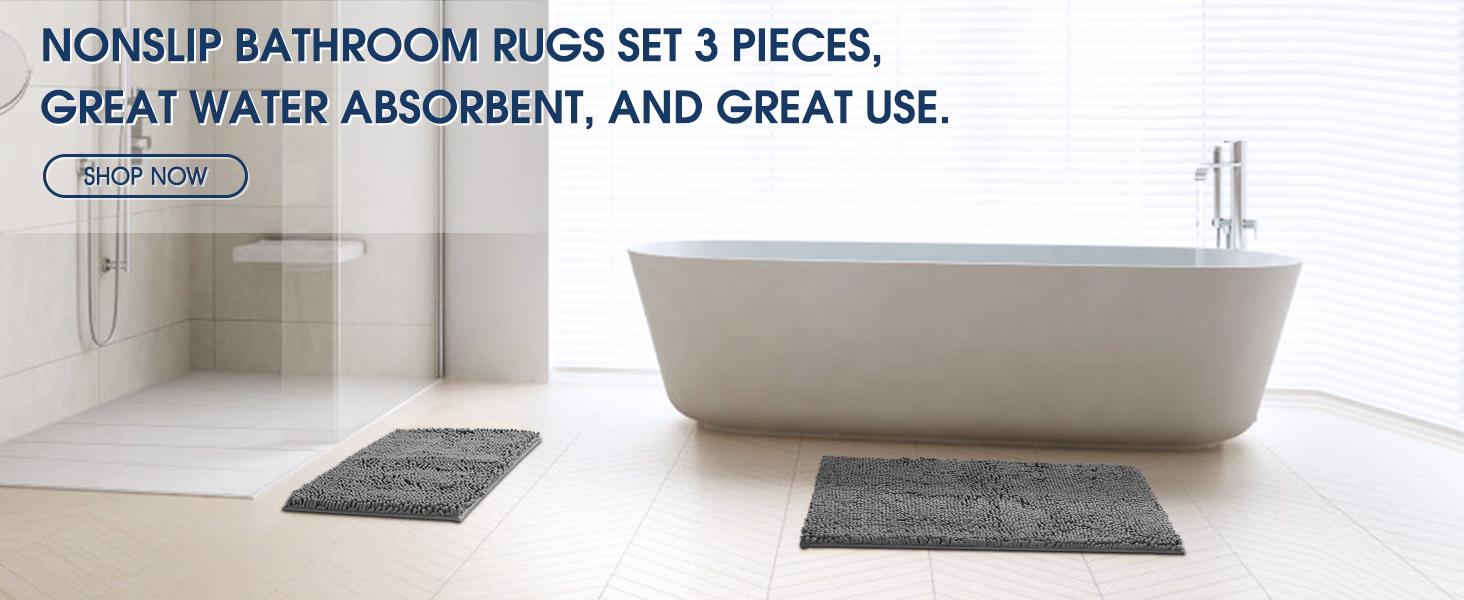 bathroom water absorbent rug