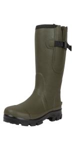 Mens muck field ankle boots neoprene waterproof warm yard walking comfortable gardening garden dog