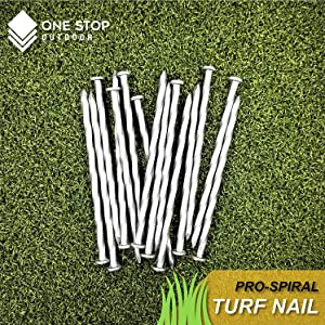 one stop outdoor, turf nail, spiral nail, timber spike, turf nails,