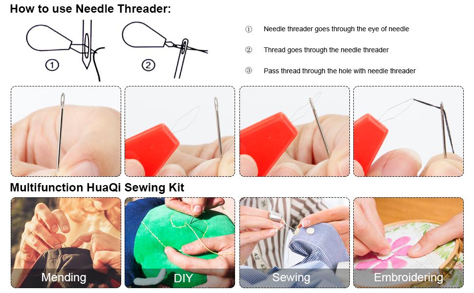 Cómo utilizar el enhebrador de agujas