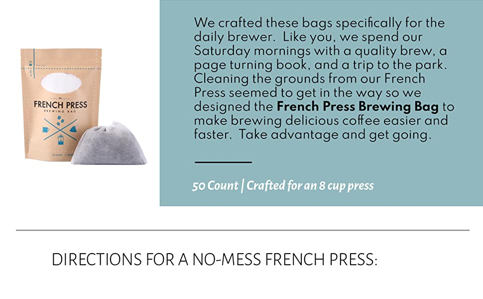 Company French Press Brewing Bag Filters